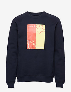 Lines Sweatshirt - DARK BLUE