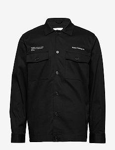 Caught Overshirt - overshirts - black