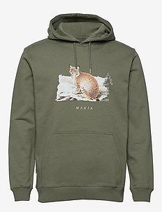 Lynx Hooded Sweatshirt - hupparit - olive