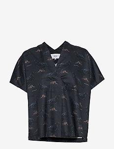 Raven Kaftan Shirt - short-sleeved blouses - dark blue