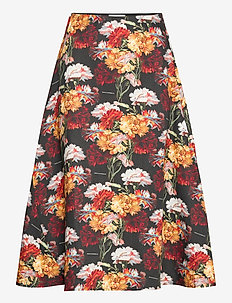 Flowers Skirt - spódnice do kolan i midi - flowers