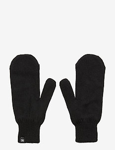 FLAG WOOL MITTENS - BLACK