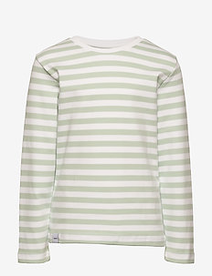 Verkstad Long Sleeve - dlugi-rekaw - mint-white