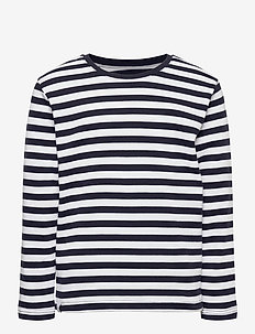 Verkstad Long Sleeve - lange mouwen - navy-white