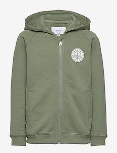 Esker Hooded Sweatshirt - bluzy z kapturem - olive