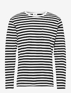 Verkstad Long Sleeve - BLACK- WHITE