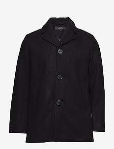 ATLANTIC JACKET - wolljacken - black