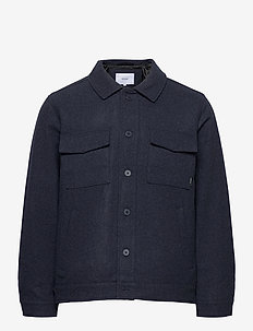 Hacienda Jacket - wool jackets - navy melange