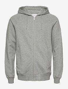 Branch Hooded Sweatshirt - basic sweatshirts - grey