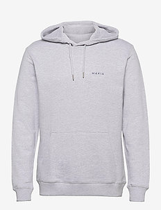 Trim Hooded Sweatshirt - basic sweatshirts - light grey