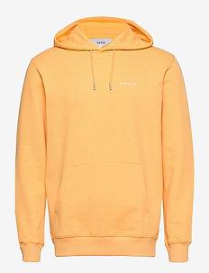 Trim Hooded Sweatshirt - basic sweatshirts - yellow