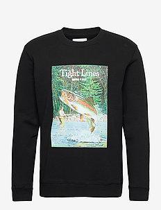 Kneedeep sweatshirt - yläosat - black