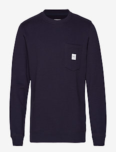SQUARE POCKET SWEATSHIRT - DARK BLUE