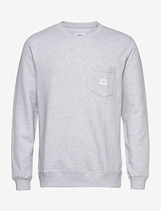 SQUARE POCKET SWEATSHIRT - sweatshirts - light grey