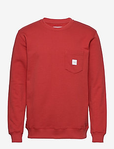 SQUARE POCKET SWEATSHIRT - sweatshirts - red