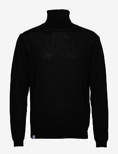 Roll Neck Knit - BLACK