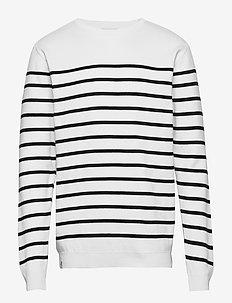 Coastal Knit - pulls col rond - white