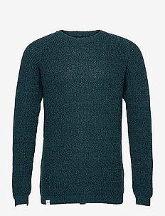 Fjord Knit - basic gebreide truien - teal