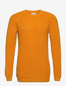 Fjord Knit - basic gebreide truien - warm yellow