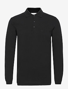 Frank LS Polo - knitted v-necks - black