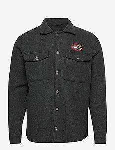 Angler Overshirt - yläosat - grey