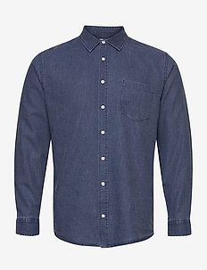 LUOTO SHIRT - hørskjorter - washed blue