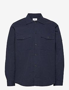Harper Overshirt - tops - dark navy
