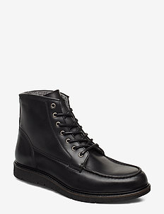 Noux Boot - laced boots - black