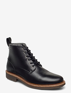 Lined Avenue Boot - laced boots - black