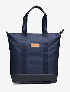 ZIP TOTE BAG - casual shoppers - navy
