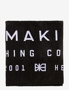 LABEL TOWEL - beach towels - black