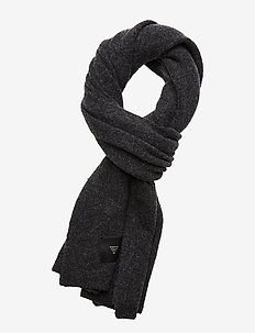 WOOLY SCARF - DARK GREY