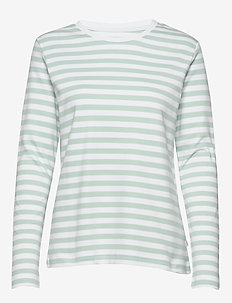 Verkstad Long Sleeve - hauts à manches longues - mint-white