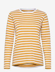 Verkstad Long Sleeve - long-sleeved tops - ochre-white