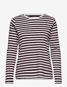 Verkstad Long Sleeve - WINE-WHITE