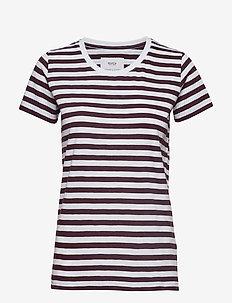 Verkstad T-Shirt - WINE-WHITE