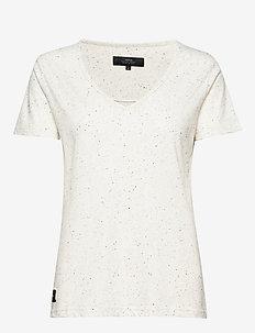 V-NECK T-SHIRT - t-shirts - ecru