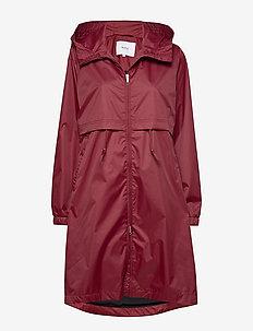Den Jacket - regntøj - ruby