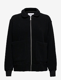 Key Fleece - kurtki bomber - black
