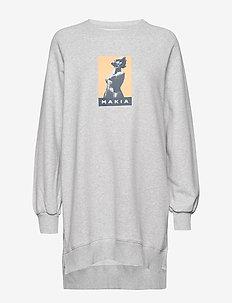 Manta Long Sweatshirt - LIGHT GREY
