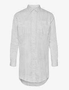 Office Shirt - langærmede skjorter - white
