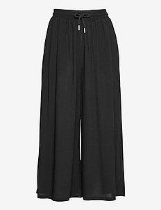 Geira Pants - uitlopende broeken - black