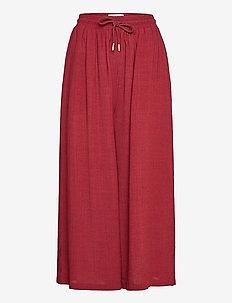 Geira Pants - bukser med brede ben - ruby