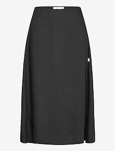 Wave Skirt - midi skirts - black