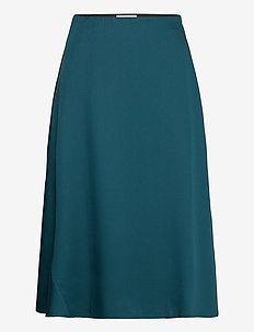 Wave Skirt - midi skirts - dark teal