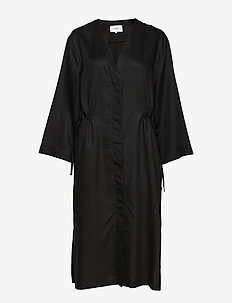 Uma Coat Dress - BLACK