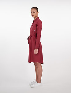 Aava Dress - shirt dresses - ruby