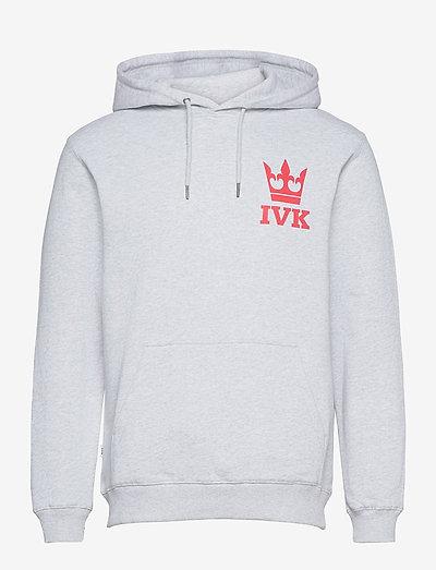 Stamp Hooded Sweatshirt - hupparit - light grey