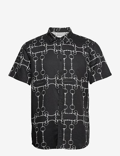Birra SS Shirt - koszule w kratkę - black