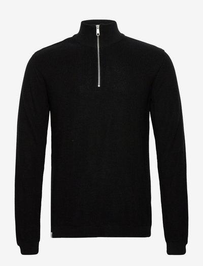 Falco Knit - half zip-tröjor - black